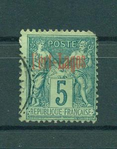 France Offices-Turkey-Port Lagos sc# 1 used cat val $30.00