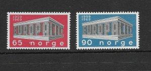 NORWAY - EUROPA 1969 - SCOTT 533 TO 534 - MNH