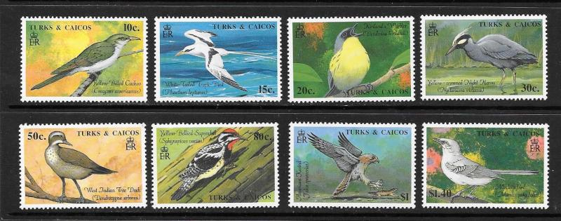 Turks and Caicos Is. #806-813  Mint H