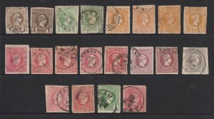Greece a small lot of mainly imperf Hermes unsorted