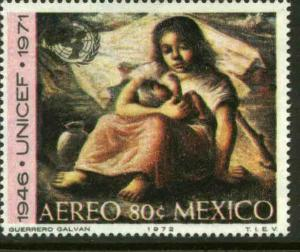 MEXICO C408 25th Anniversary UNICEF painting by Guerrero MINT, NH. VF.