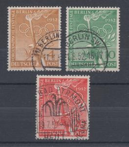 Germany, Berlin Sc 9N81-9N83 used 1952 Olympics complete F-VF