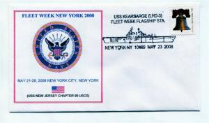 US Naval Ship Cover - USS KEARSARGE (LHD3) 2008