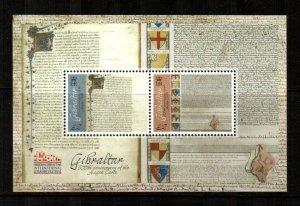 Gibraltar #1539  MNH  Scott $12.00   Souvenir Sheet