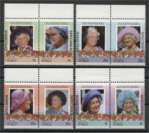 TUVALU, NANUMAGA, QUEEN MOTHER SPECIMENOVERPRINTS