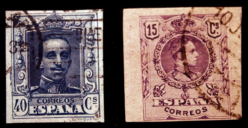 Spain Imperfs #300 1909 & #340 1922 Rare Used