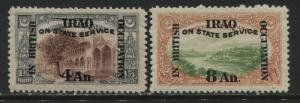 Mesopotamia 1920 overprinted Officials 4 and 8 annas mint o.g.