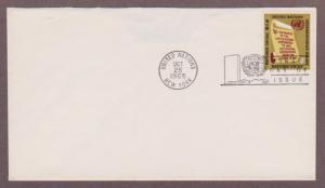 UN # 147 , Opening Words of UN Charter on uncacheted FDC - I Combine S/H