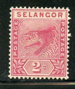 Selangor # 25, Mint Hinge Remain. CV $ 4.00