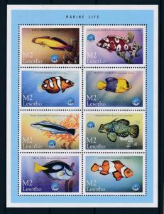 [49692] Lesotho 1998 Marine life Fish Unesco MNH Sheet