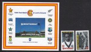 Montserrat SC# 1000-1002 MNH