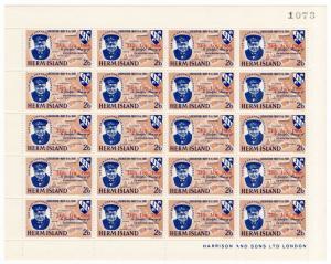 (I.B-JA) Cinderella Collection : Herm Island - Churchill Red Overprint 2/6d