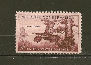 USA 1077 Wild Turkey Mint Hinged