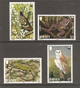 Jersey  (1989)  - Scott # 507 - 510,  World Wildlife Fund