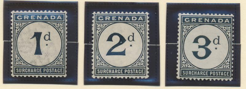 Grenada Stamp Set Scott #J8-10 Postage Due, Mint Lightly Hinged - Free U.S. S...