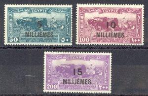 Egypt Sc# 115-117 MH 1926 Overprints