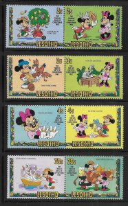 Lesotho 381-389 Disney 1982 12 Days of Christmas MNH c.v. $8.30