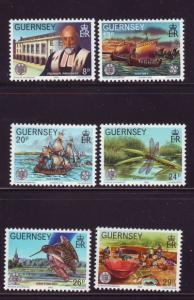 Guernsey Sc 240-5 1982 La Societe 100 years stamps NH