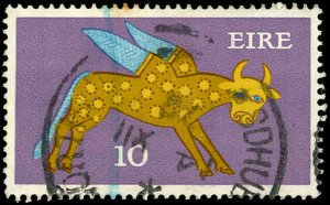 IRELAND Sc 302b - 10p Winged Ox - Type II - Outlined in Brown