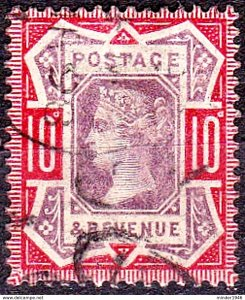 GREAT BRITAIN 1887 QV 10d Dull Purple & Scarlet SG210b Used