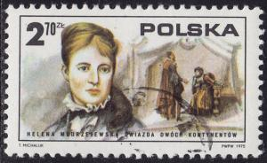 Poland - 1975 - Scott #2119 - used - Helena Modrzejewska American Revolution