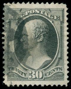 momen: US Stamps #154 USED XF JUMBO App.