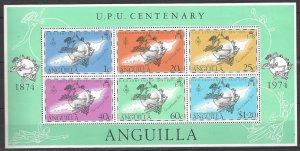 Anguilla 204a  Sheet   MNH  UPU Centenary 1974