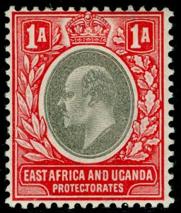 EAST AFRICA and UGANDA SG2, 1a grey & red, M MINT. WMK CA