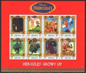 Grenada. 1998. Small sheet 3677-84. Disney, Hercules, animation. MNH.
