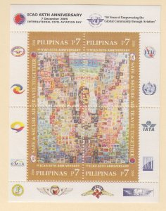 Philippines: Sc #3253, MNH, S/S, 65th Anniv. ICAO (S18907)
