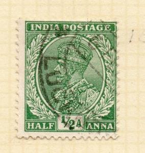 India 1934 Early Issue Fine Used 1/2a. 083629