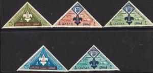 Qatar 53-57 Mint OG 1965 Boy Scouts