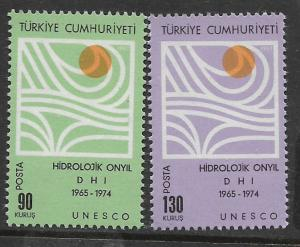 TURKEY, 1757-1758, MNH, SYMBOLIC WATER CYCLE