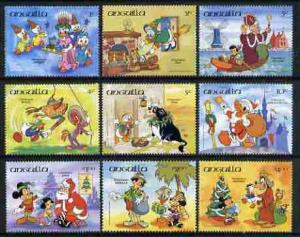 Anguilla 1984 Christmas set of 9 with Disney characters i...