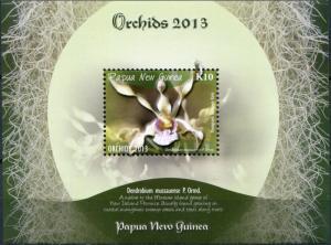 Papua New Guinea. 2013. Orchids of Papua New Guinea (MNH OG) Souvenir Sheet