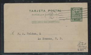 DOMINICAN REPUBLIC (PP2706B) 1925  1C PSC TO LA ROMANA
