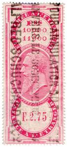(I.B) Belgium Revenue : Bill of Exchange 2F 75c