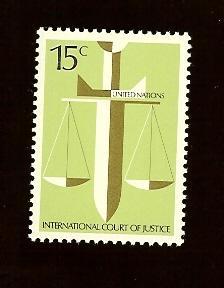 UN N.Y. 314 15¢ Court of Justice MNH