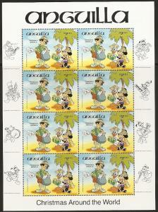 Anguilla 603 1984 Christmas Disney Mini Sheet