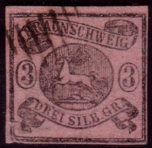 GERMANY BRUNSWICK An old forgery of a classic stamp........................39447