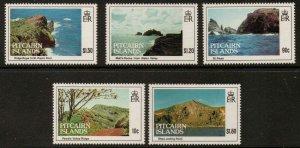 PITCAIRN ISLANDS SG431/5 1993 ISLAND VIEWS FINE USED