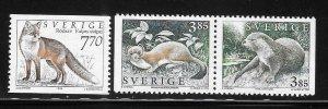 Sweden 1996 Wild Animals Sc 1924-1925, 1935 MNH A2040
