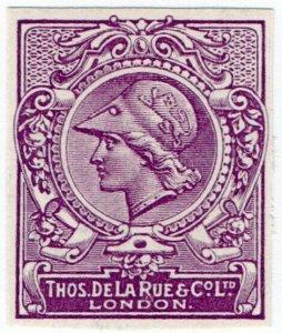(I.B) Cinderella : De La Rue & Co - Minerva Head Essay (background 1)