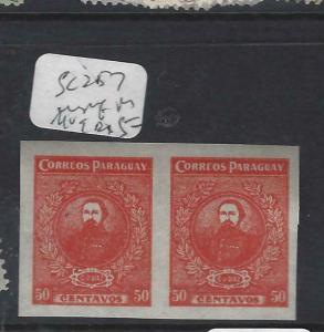 PARAGUAY  (PP1802B)   SC 257  VAR IMPERF PR   MOG
