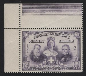 United States CENTENARY PHILATELIC EXHIBITION PURPLE CINDERELLA VF - BARNEYS