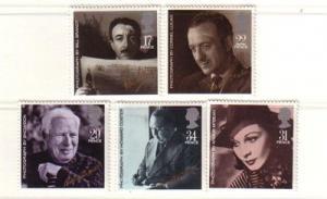 Great Britain Sc 1119-23 1985 Film Stars stamp set mint NH