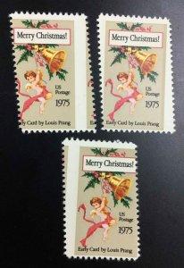 MOMEN: US STAMPS #15c VAR. CHRISTMAS 3 MISPERFS MINT OG NH LOT #52980