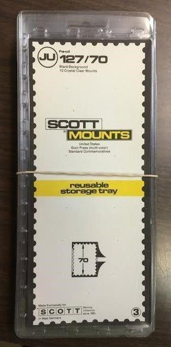 SCOTT MOUNTS, PRE CUT,127/70, 10 PACKS RETAILED AT $57.50