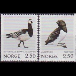 NORWAY 1983 - Scott# 821-2 Birds Set of 2 NH