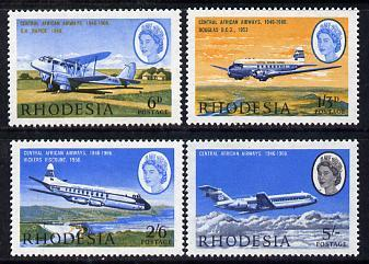 Rhodesia 1966 20th Anniversary of Central African Airways...
